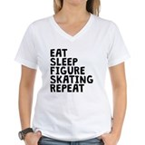 Skating eat sleep figure skating repeat Tops