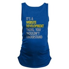 Website Development Thing Maternity Tank Top