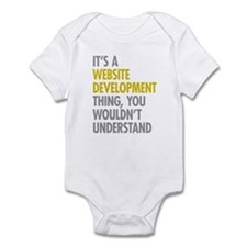 Website Development Thing Infant Bodysuit