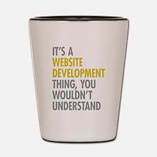 Website Development Thing Shot Glass