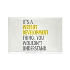 Website Development Thing Rectangle Magnet