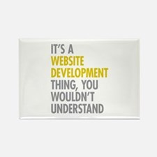 Website Development Thing Rectangle Magnet