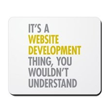 Website Development Thing Mousepad