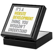 Website Development Thing Keepsake Box