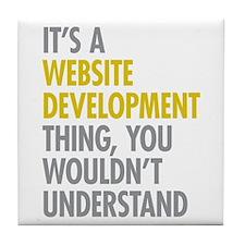 Website Development Thing Tile Coaster