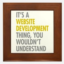 Website Development Thing Framed Tile