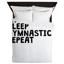 Eat Sleep Gymnastics Repeat Queen Duvet