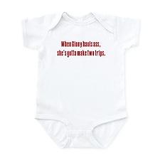 Ginny's hauls ass Infant Bodysuit