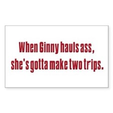 Ginny's hauls ass Rectangle Bumper Stickers