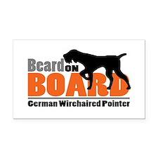 Beard on Board - GWP Rectangle Car Magnet