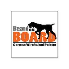 """Beard on Board - GWP Square Sticker 3"""" x 3"""""""