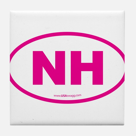 New Hampshire NH Euro Oval Tile Coaster