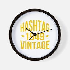 1949 Hashtag Vintage Wall Clock