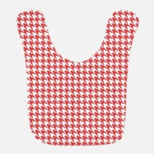 Red and White Houndstooth Pattern Bib