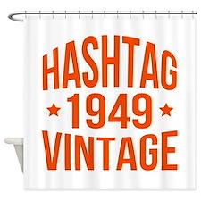1949 Hashtag Vintage Shower Curtain