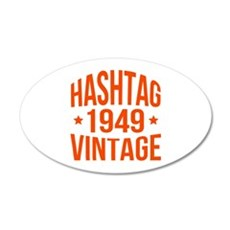 1949 Hashtag Vintage Wall Decal