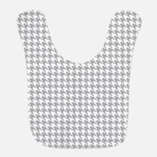 Gray and White Houndstooth Pattern Bib