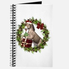 Christmas Donkey Wreath Journal