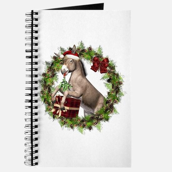 Christmas Donkey Wreath Journal