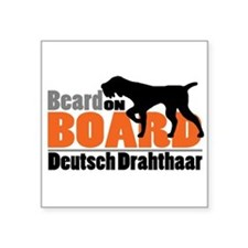 "Beard on Board - DD Square Sticker 3"" x 3"""