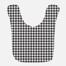 Black and White Houndstooth Pattern Bib