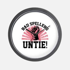 Bad Spellers Untie! Wall Clock