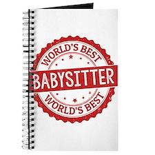World's Best Babysitter Journal