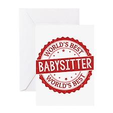 World's Best Babysitter Greeting Cards