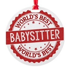World's Best Babysitter Ornament
