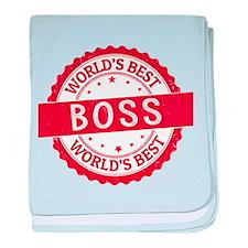 World's Best Boss baby blanket