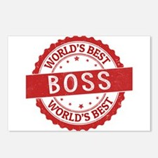 World's Best Boss Postcards (Package of 8)