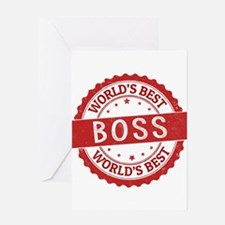 World's Best Boss Greeting Cards