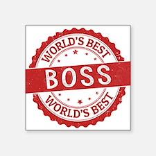 World's Best Boss Sticker