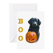 Flat-Coat Boo Greeting Cards (Pk of 10)