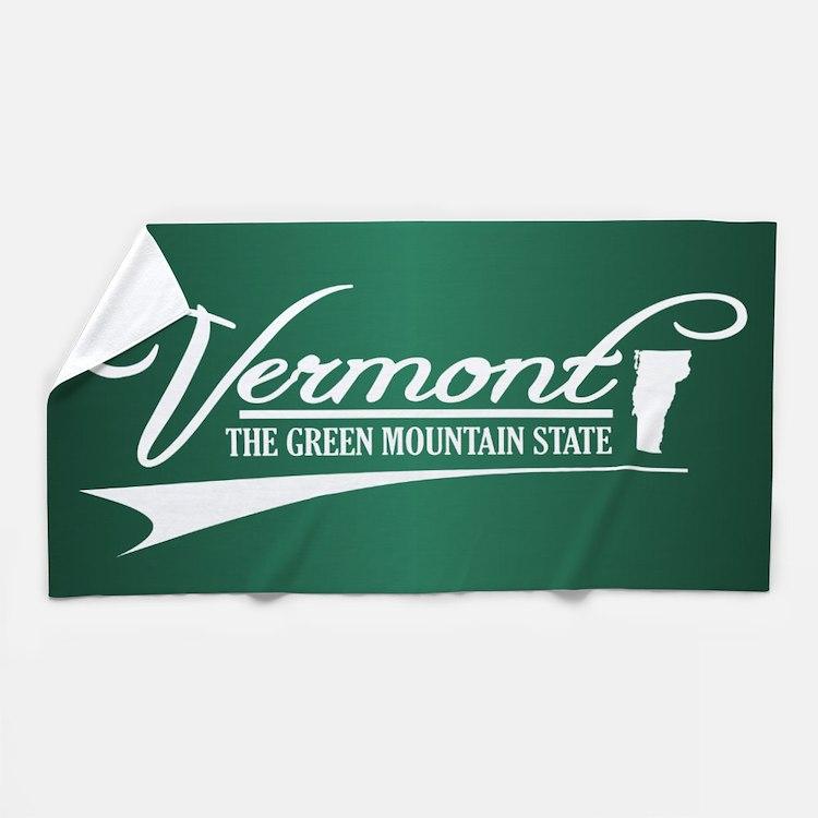 Vermont State of Mine Beach Towel
