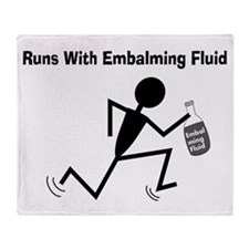 Mortuary Humor Throw Blanket