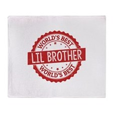 World's Best Lil Brother Throw Blanket
