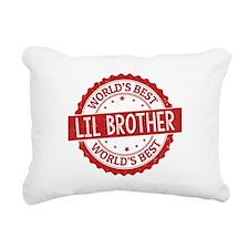 World's Best Lil Brother Rectangular Canvas Pillow