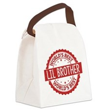 World's Best Lil Brother Canvas Lunch Bag