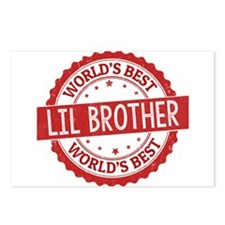 World's Best Lil Brother Postcards (Package of 8)