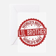 World's Best Lil Brother Greeting Cards