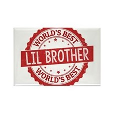 World's Best Lil Brother Magnets