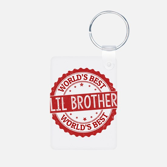 World's Best Lil Brother Keychains