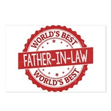 World's Best Father-in-La Postcards (Package of 8)