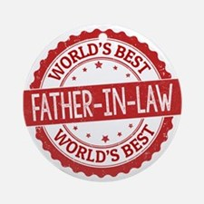 World's Best Father-in-Law Ornament (Round)