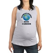 World's Sexiest Mail Carrier Maternity Tank Top