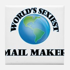 World's Sexiest Mail Maker Tile Coaster