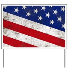 Vintage Stars and Stripes Patriotic Yard Sign