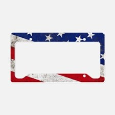 Vintage Stars and Stripes Pat License Plate Holder