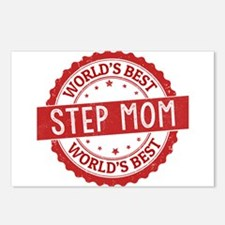 World's Best Step Mom Postcards (Package of 8)